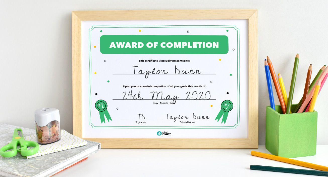 Award Printable Mockup