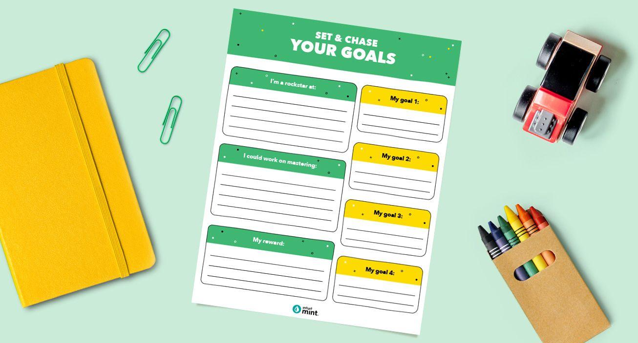 Goal Setting Printable Mockup