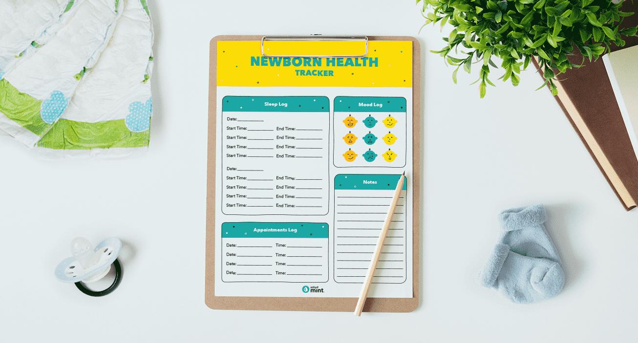 Newborn Health Tracker Mockup