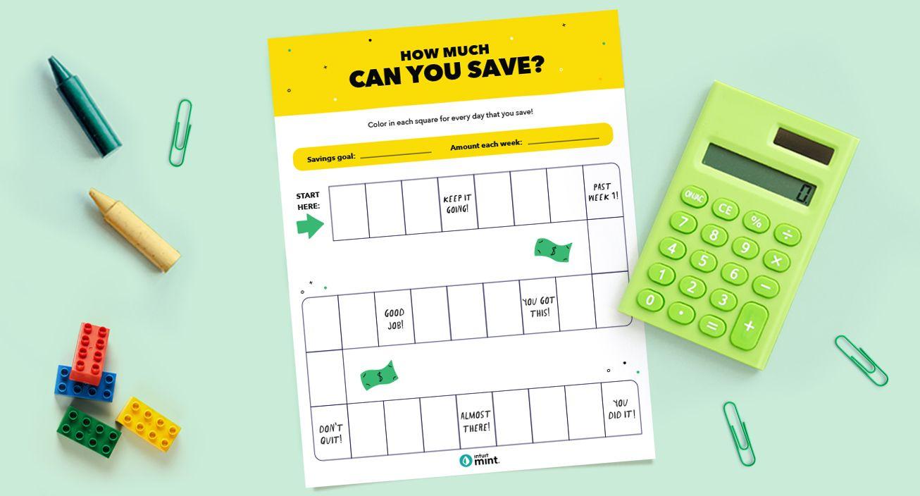 Savings Game Printable Mockup