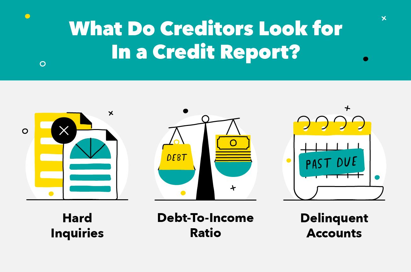 ¿Qué buscan los acreedores en un informe crediticio?