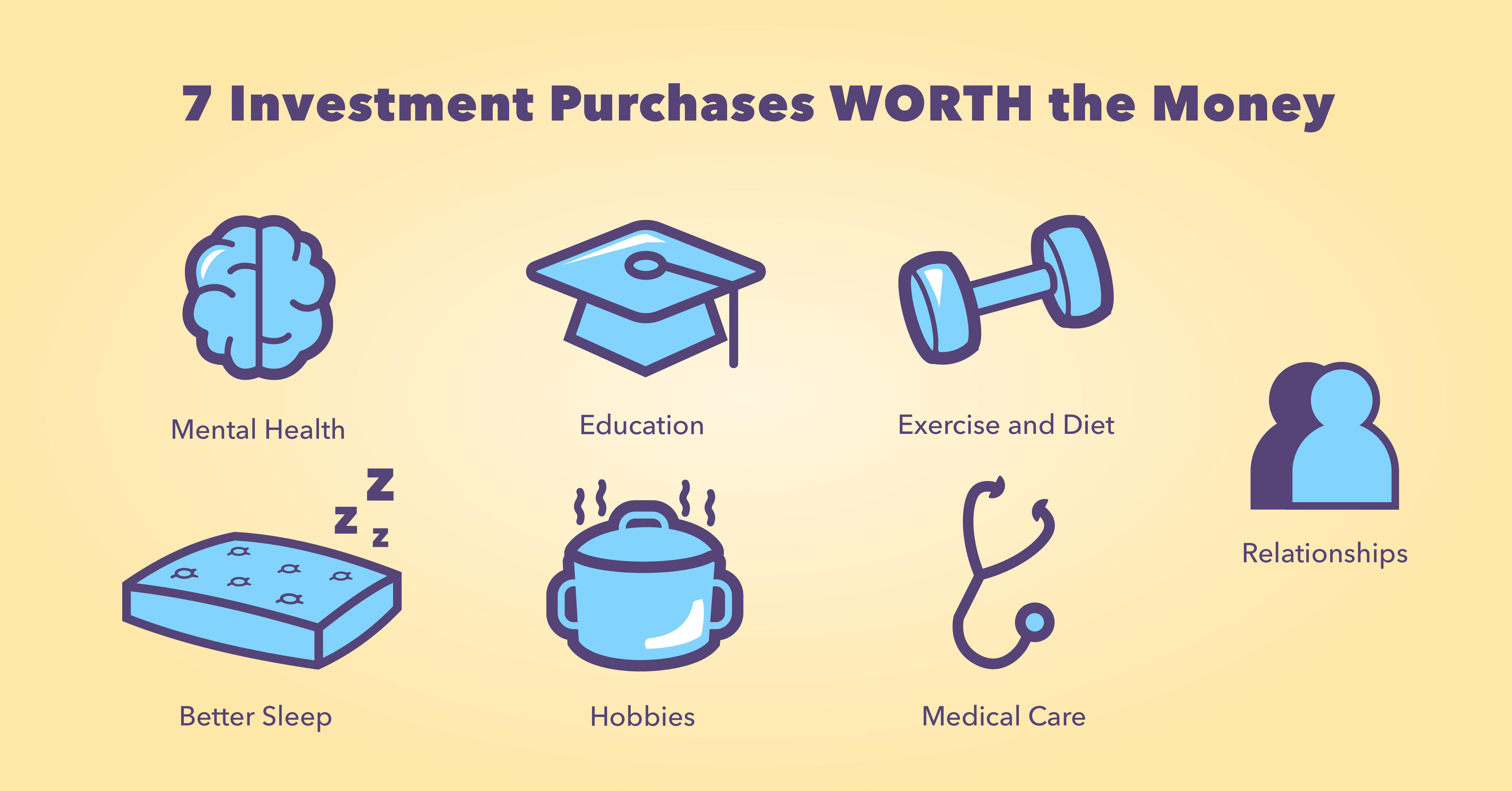7 achats d'investissement qui valent l'argent